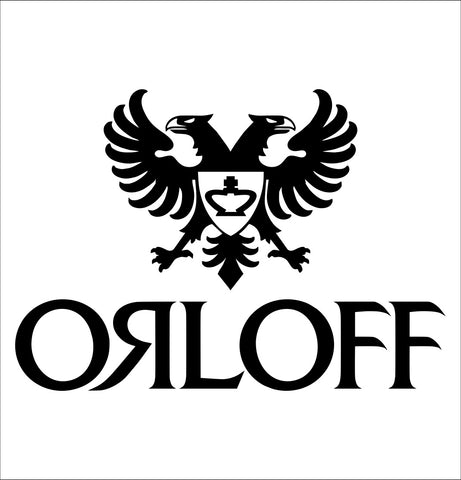 Orloff decal, vodka decal, car decal, sticker