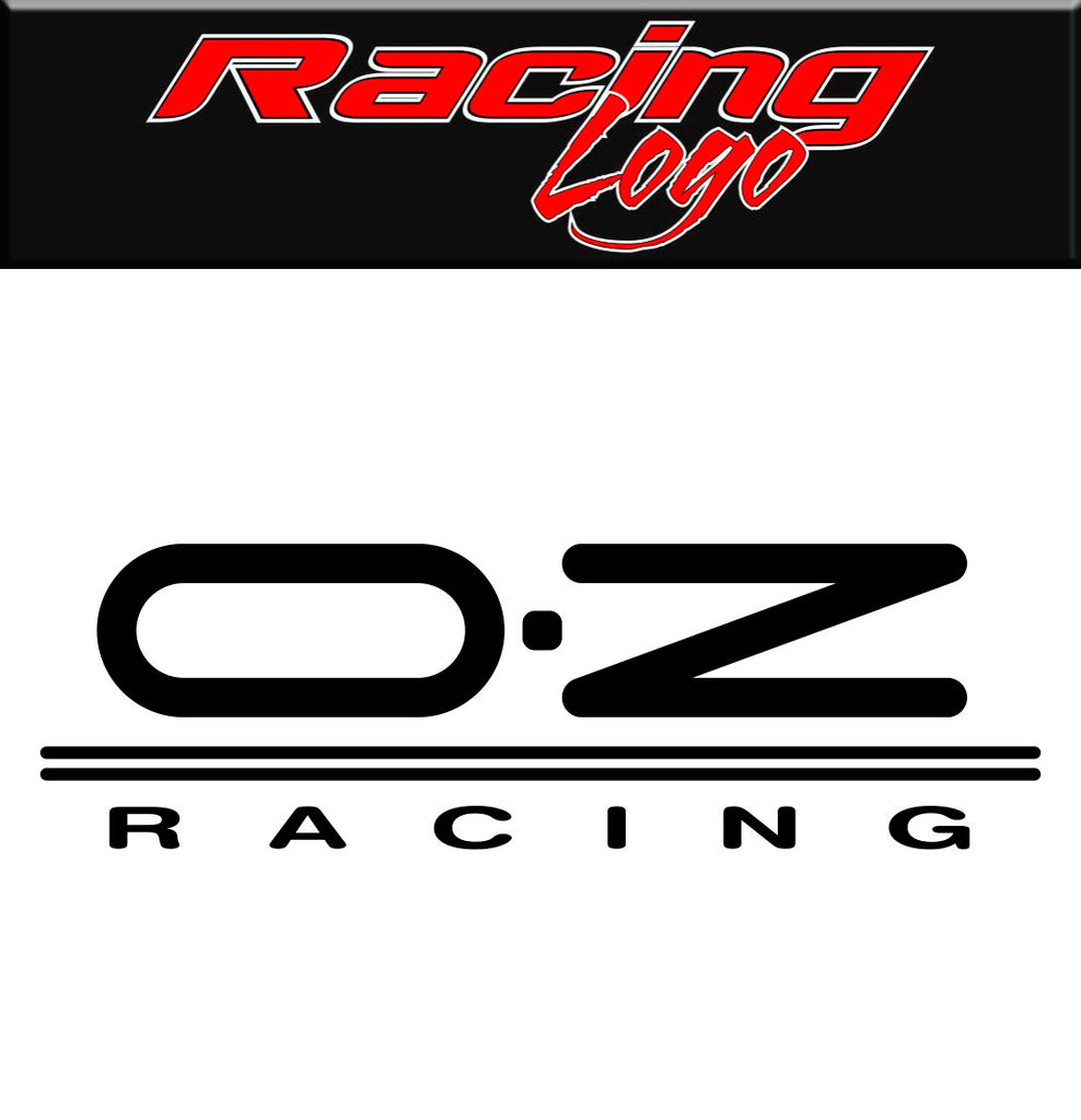Oz Racing decal, sticker, racing decal