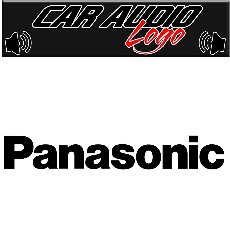 Panasonic decal, sticker, audio decal