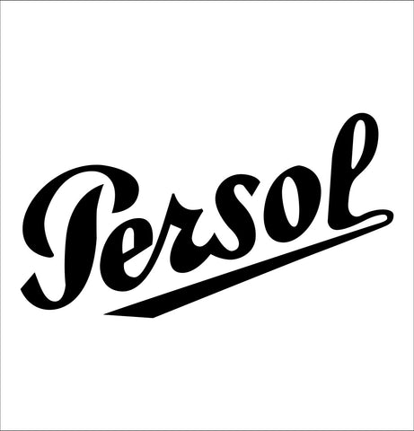 Persol decal, car decal sticker
