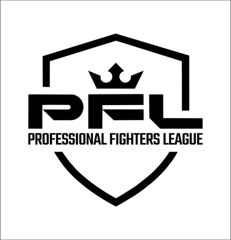 PFL decal, mma boxing decal, car decal sticker