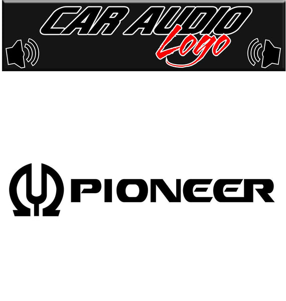Pioneer decal, sticker, audio decal