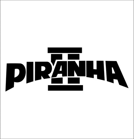 Piranha II decal, darts decal, car decal sticker