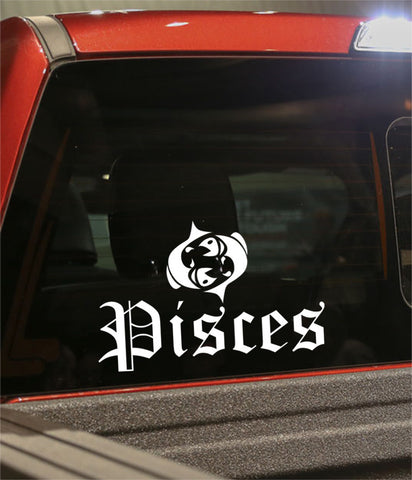 pisces 3 zodiac decal - North 49 Decals