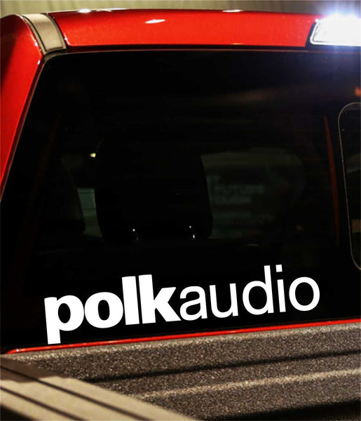 Polk Audio decal, sticker, audio decal