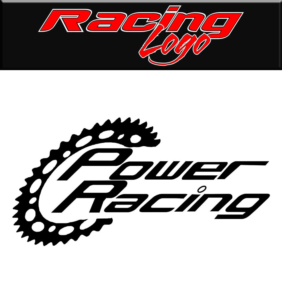 Power Racing decal, sticker, racing decal