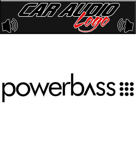 Powerbass decal, sticker, audio decal