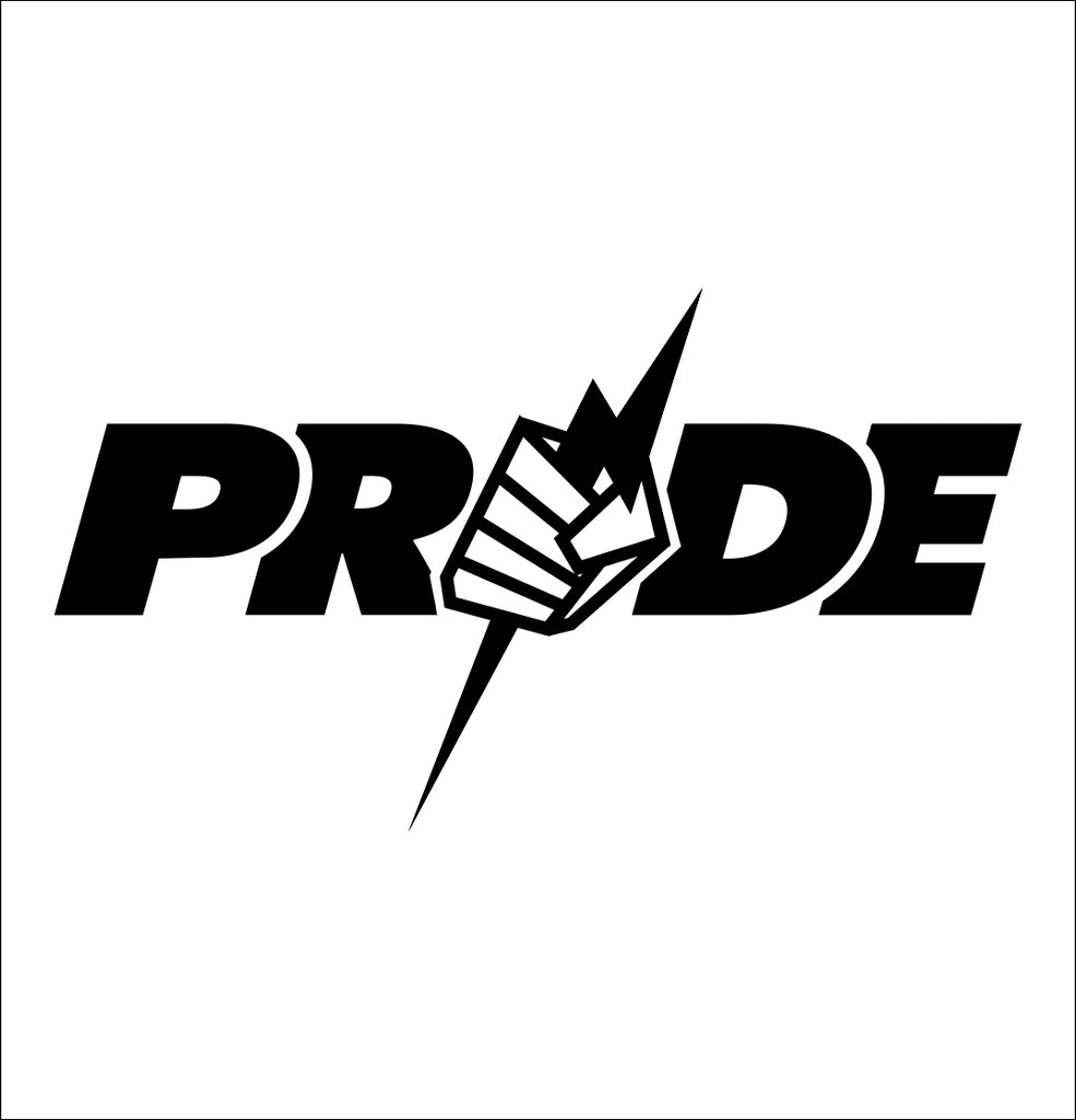Pride decal, mma boxing decal, car decal sticker