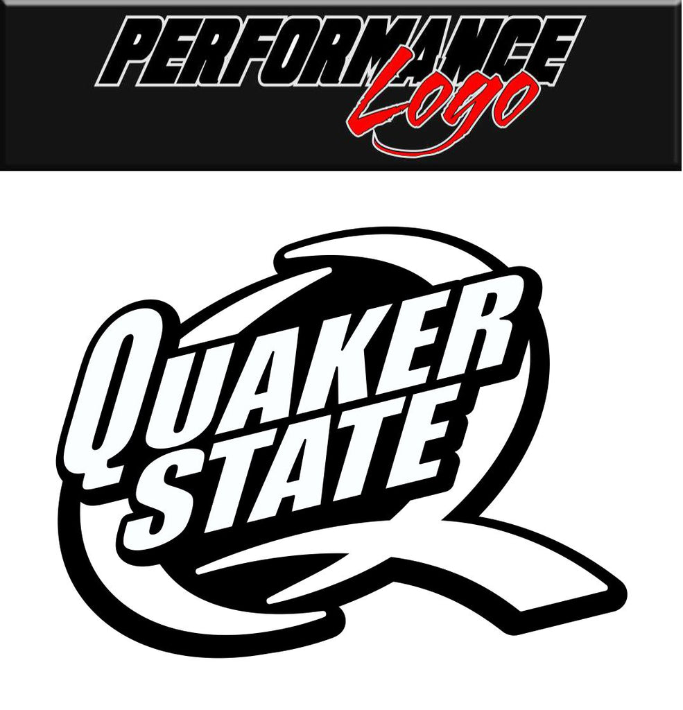 Quaker State decal, performance decal, sticker
