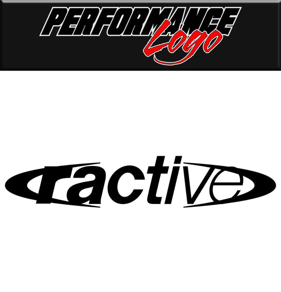 Ractive decal, performance decal, sticker