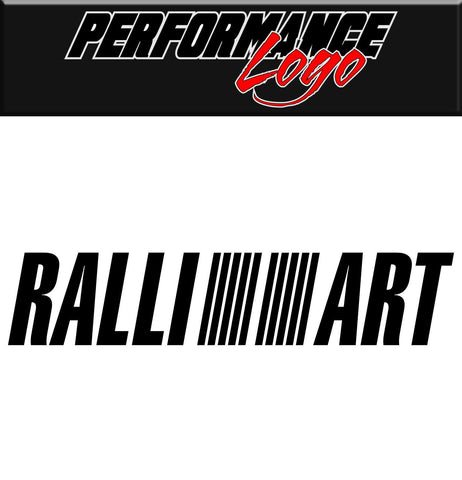 Ralli Art decal, performance decal, sticker