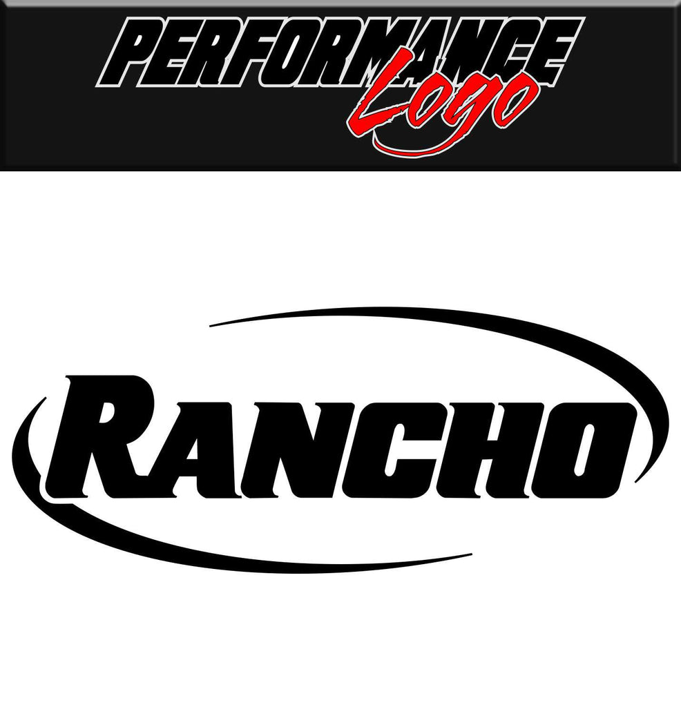 Rancho decal, performance decal, sticker