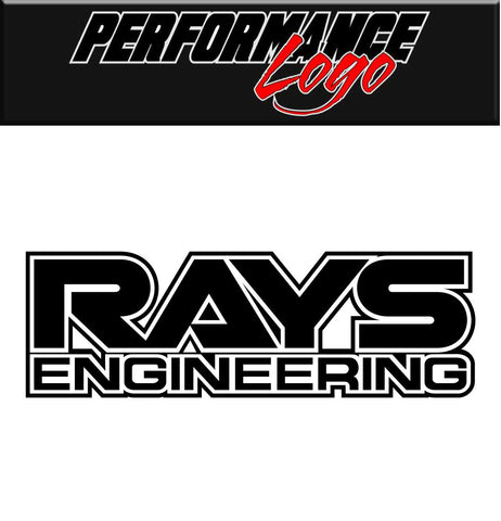 Rays Enigineering decal, performance decal, sticker