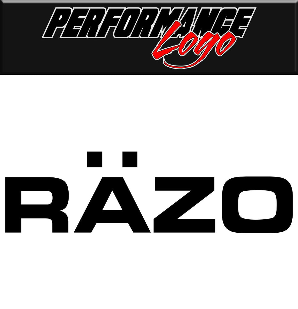 Razo decal, performance decal, sticker