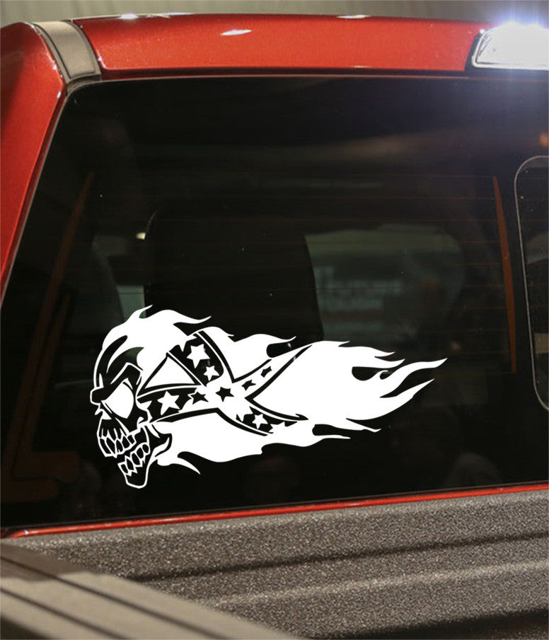 Skull confederate redneck decal - North 49 Decals