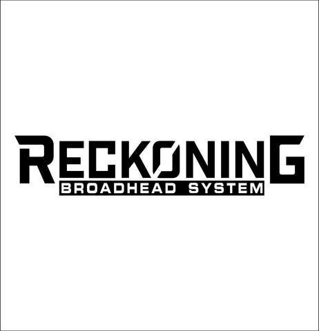 Reckoning Broadhead decal, fishing hunting car decal sticker