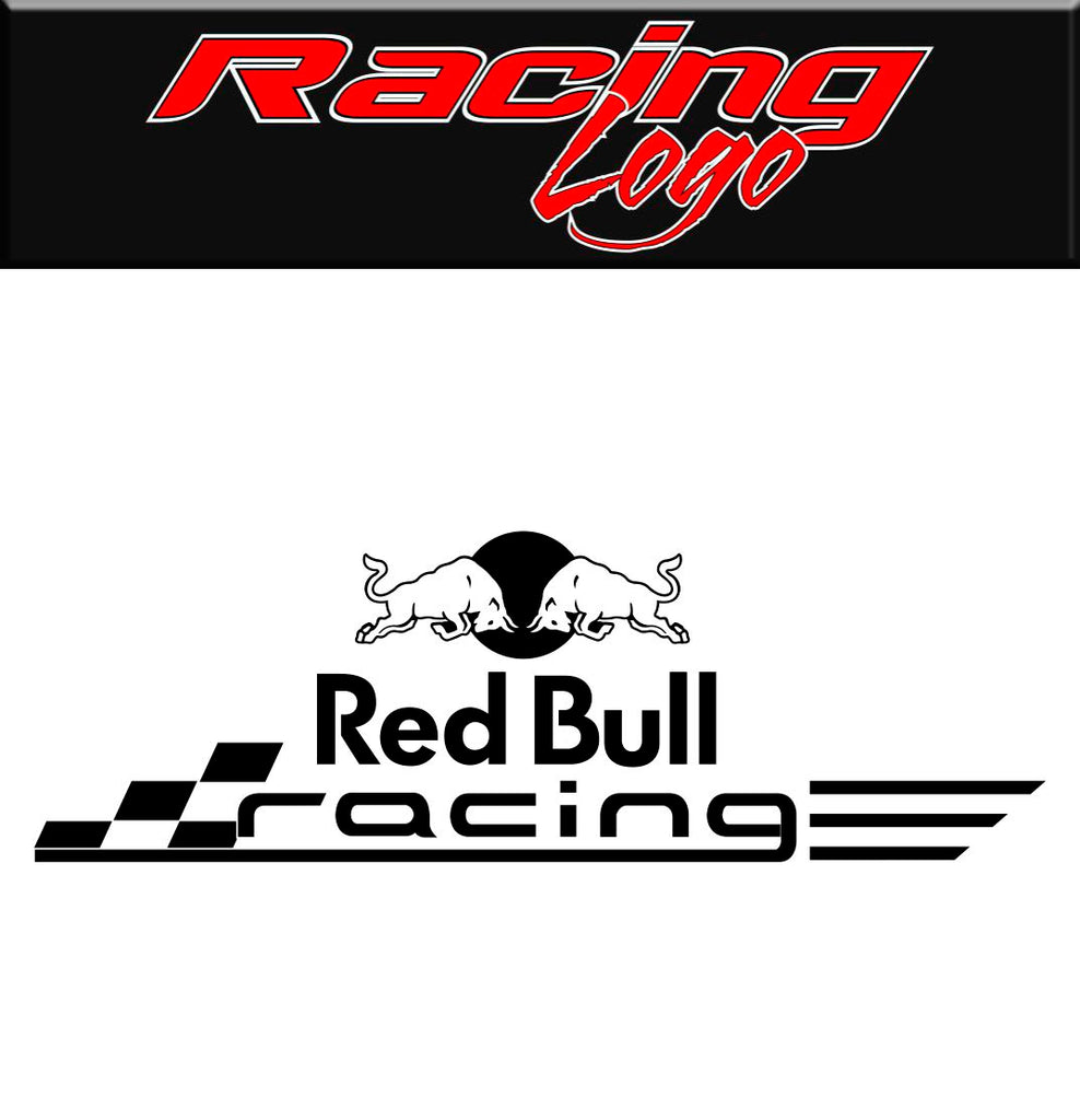 Red bull racing decal sticker racing decal