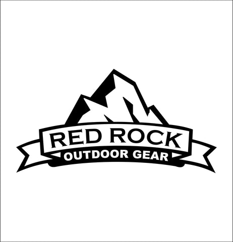 red rock gear decal, car decal sticker