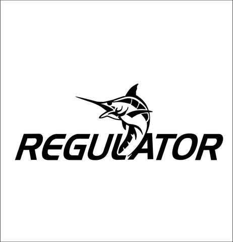 regulator boats decal, car decal, hunting fishing sticker