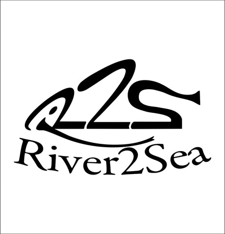 River2Sea decal, fishing hunting car decal sticker