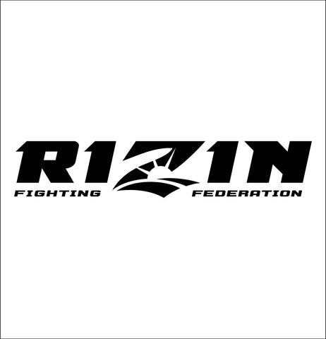 Rizin decal, mma boxing decal, car decal sticker