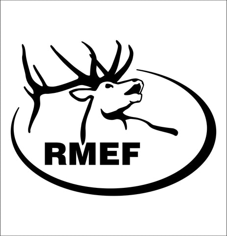 Rocky Mountain Elk Foundation decal, car decal sticker