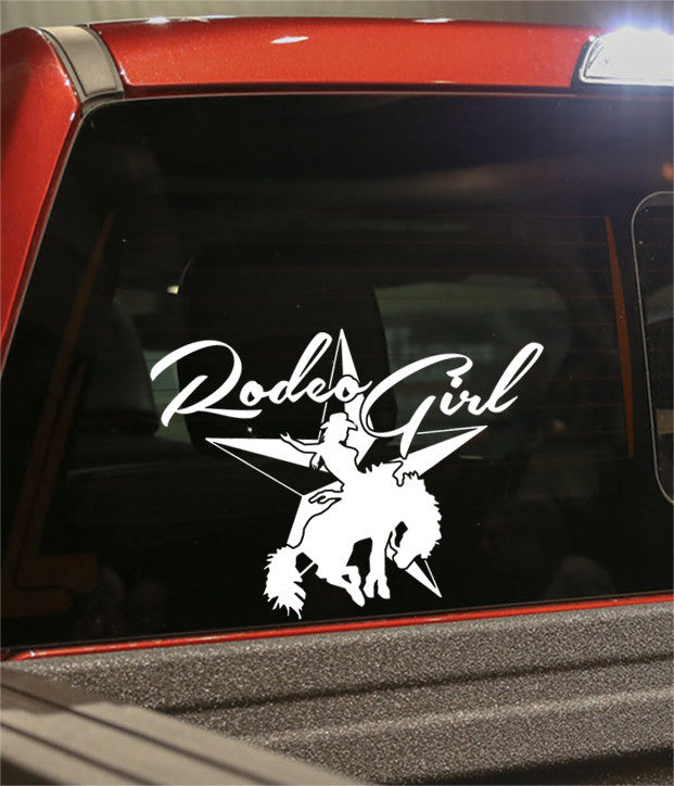 rodeo girl country & western decal - North 49 Decals