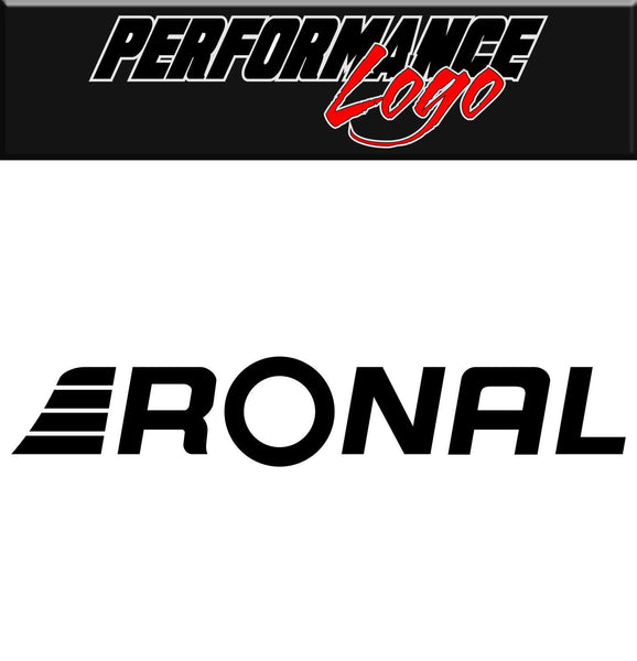 Ronal decal, performance decal, sticker