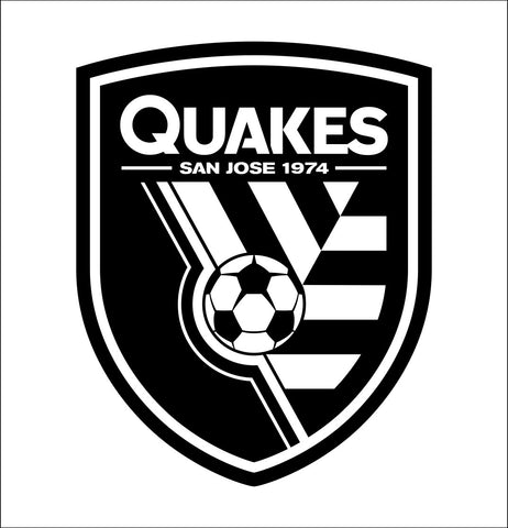 San Jose Quakes decal, car decal sticker