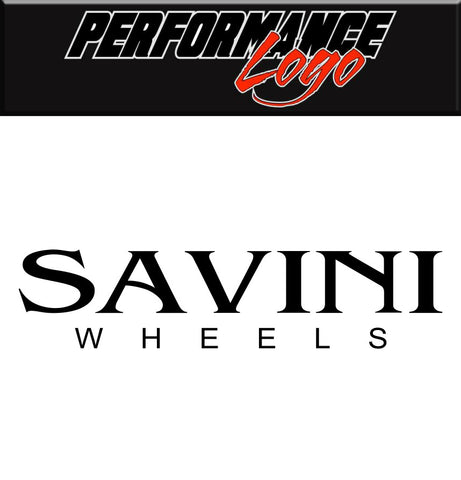 Savini Wheels decal, performance car decal sticker
