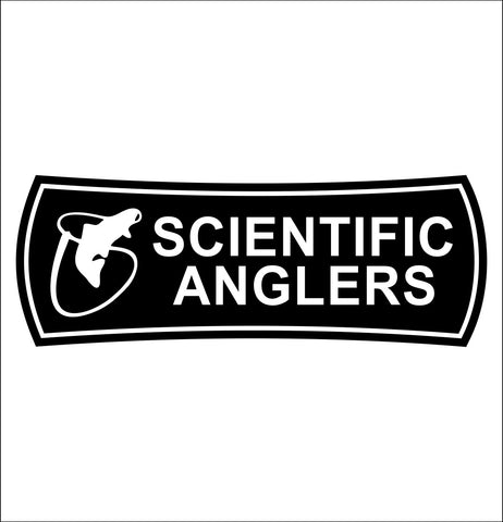 Scientific Anglers decal, fishing hunting car decal sticker