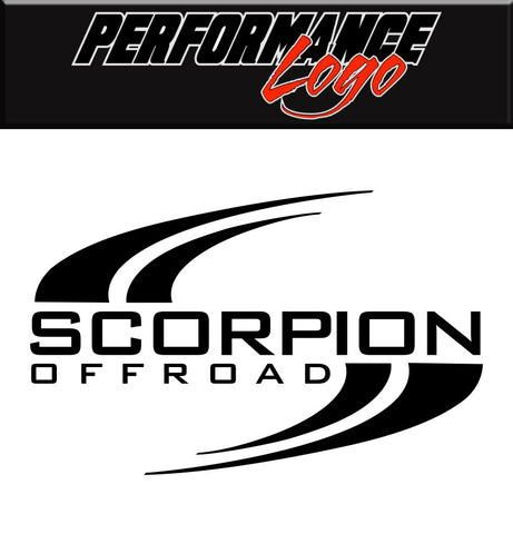 Scorpion Off Road decal, performance car decal sticker