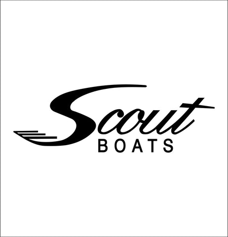 scout boats decal, car decal, hunting fishing sticker