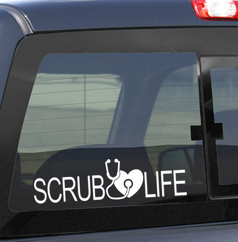 scrub life nurse decal - North 49 Decals