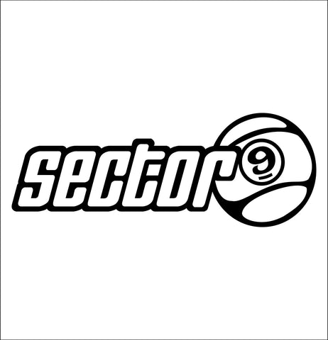 Sector 9 Skateboards decal, skateboarding decal, car decal sticker