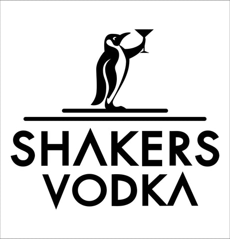 Shakers Vodka decal, vodka decal, car decal, sticker