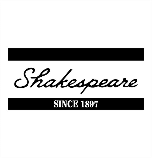 Shakespeare decal, sticker, hunting fishing decal