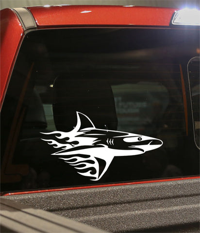 shark 3 flaming animal decal - North 49 Decals
