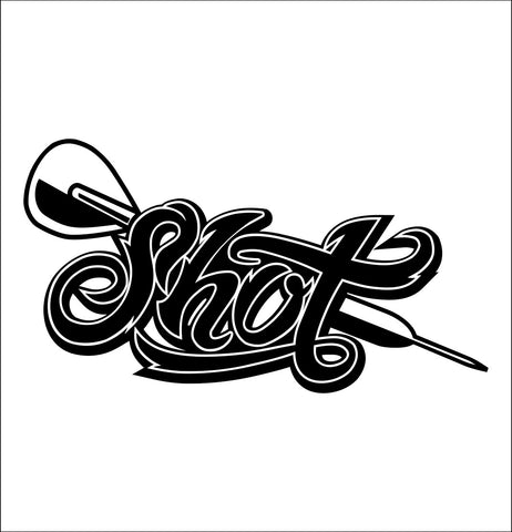 Shot Darts decal, darts decal, car decal sticker