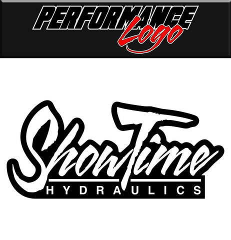 Showtime Hydraulics decal, performance decal, sticker