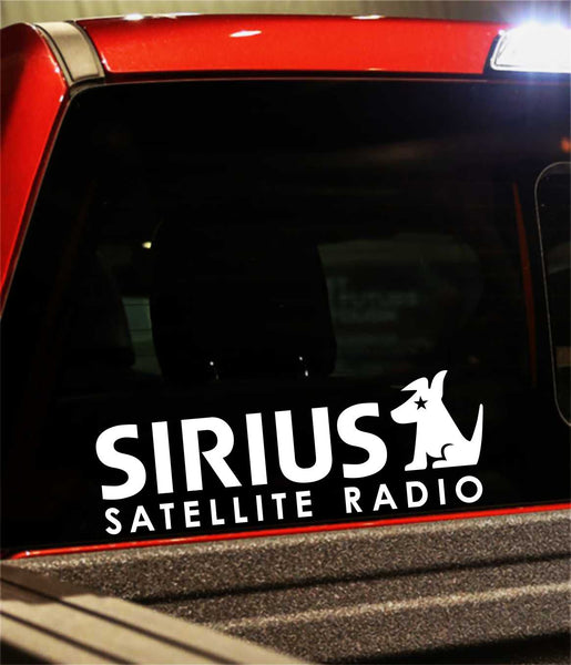 Sirius decal, sticker, audio decal