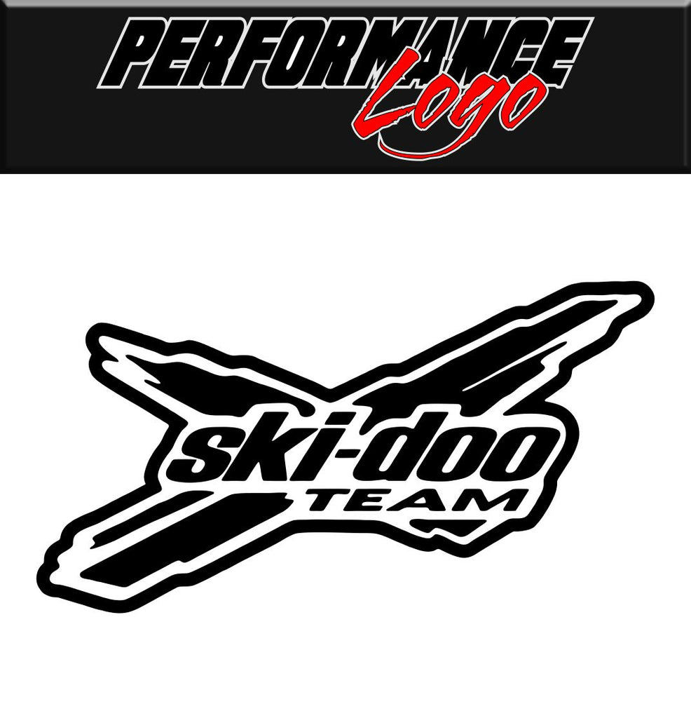 Ski Doo Team decal, performance decal, sticker