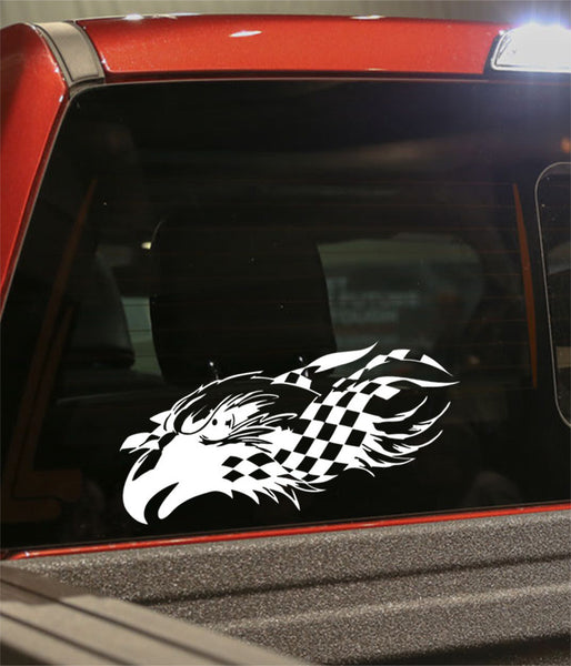 skull 11 skull biker decal - North 49 Decals