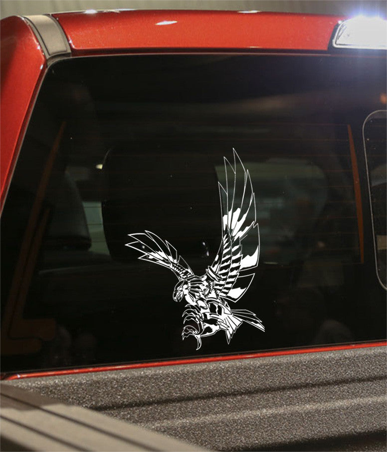 skull 12 skull biker decal - North 49 Decals