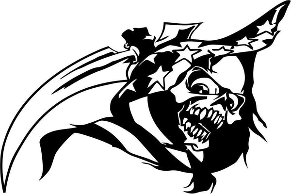 skull 14 skull biker decal - North 49 Decals