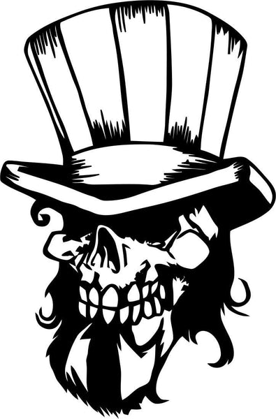 skull 20 skull biker decal - North 49 Decals
