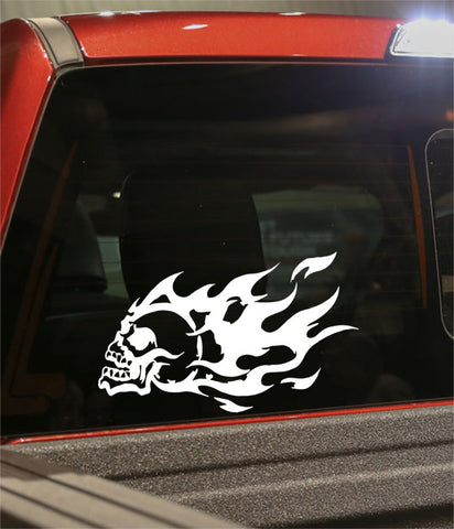 skull 22 skull biker decal - North 49 Decals
