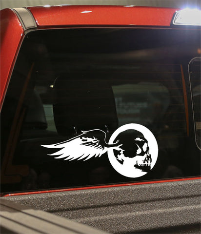 skull 23 skull biker decal - North 49 Decals