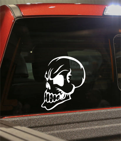 skull 24 skull biker decal - North 49 Decals