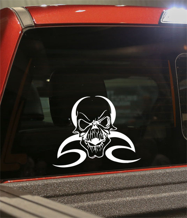 skull 25 skull biker decal - North 49 Decals